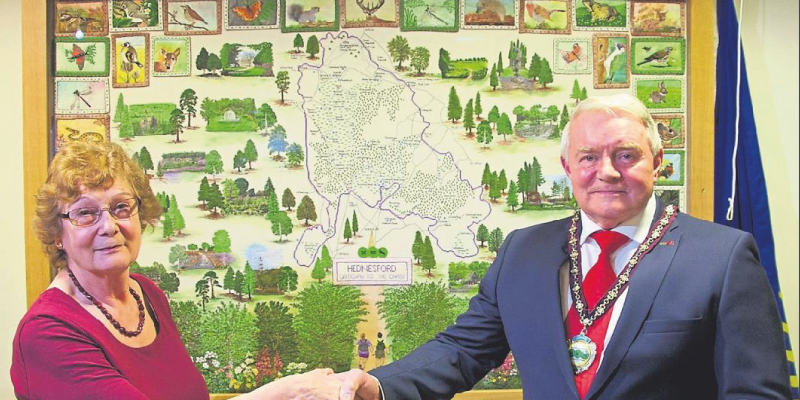 The Hednesford Embroidery is unveiled at Pye Green Community Centre